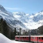 Viajar en un vagón panorámico y ver Los Alpes de cerca no tiene precio…