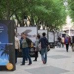 El aeropuerto de Palma de Mallorca se promociona con una exposición en la calle
