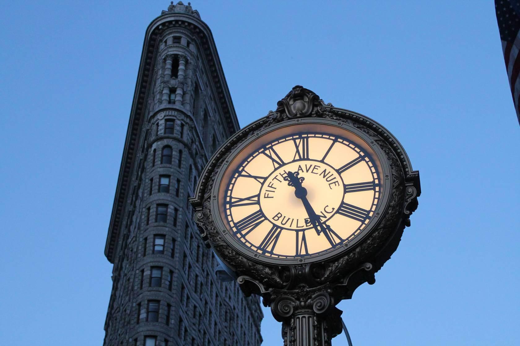 reloj de la quinta avenida en nueva york