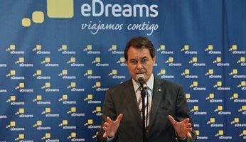 Artur Mas, Presidente de la Generalitat, visita la sede de eDreams
