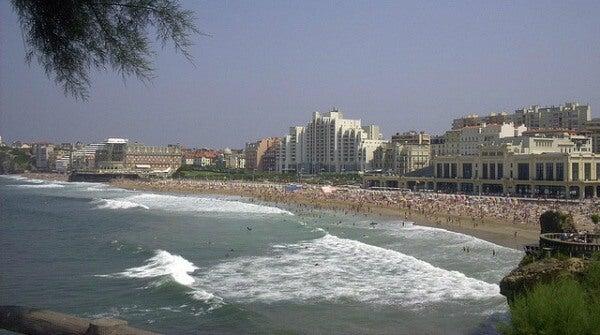 Playa de Biarritz, Francia