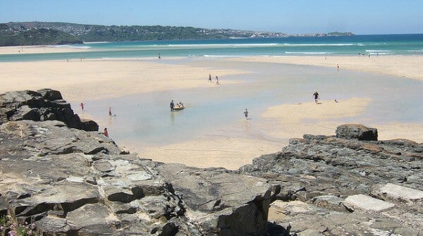 Playa de Hayle Towan. North Cornish Coast, Reino Unido