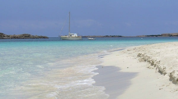 Playa de S' Alga. Formentera, España