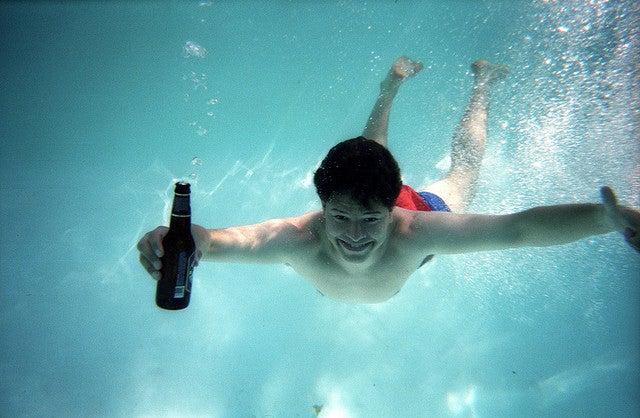 Fiesta bajo el agua