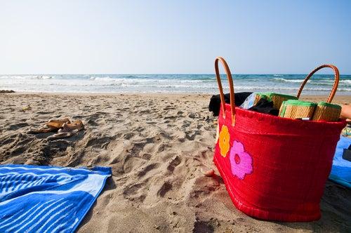 toalla y esterilla playa