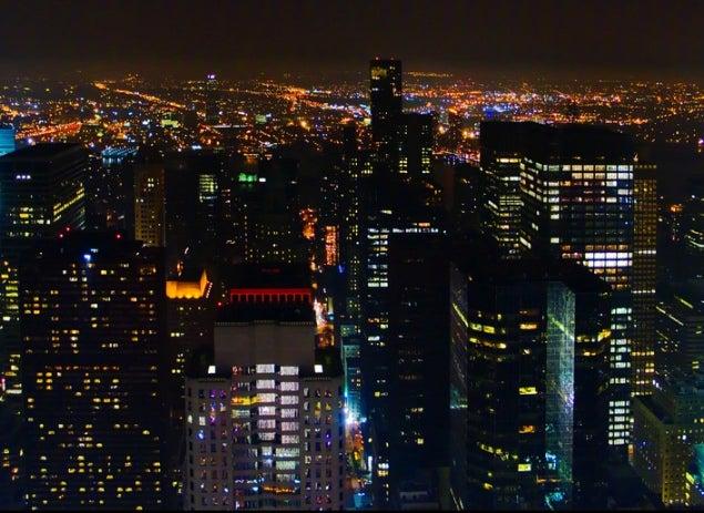 Manhattan de noche. Flickr