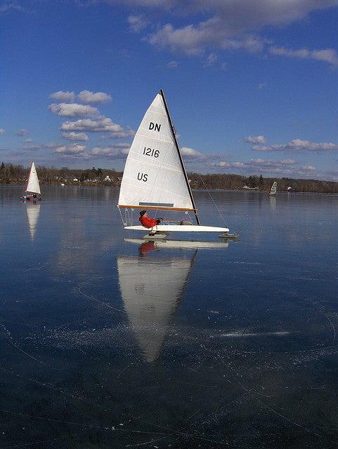 Navegando sobre un glaciar