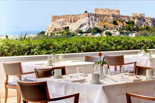 Terraza restaurante Atenas