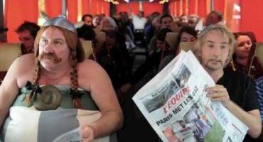 Gerard Depardieu vuelve a ser protagonista en un avión…