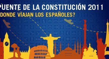 ¿A dónde van los españoles en el Puente de la Constitución 2011?