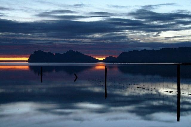 Suncet at Swan Fjord