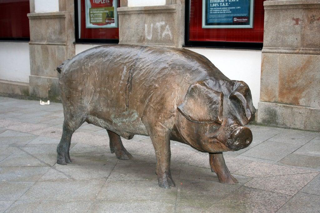 Escultura cerdo, Lalin