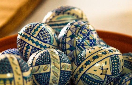 Huevos pintados para la semana santa de Rumanía