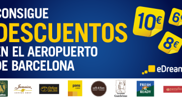 Descuentos en el aeropuerto de El Prat con eDreams y Eat Out