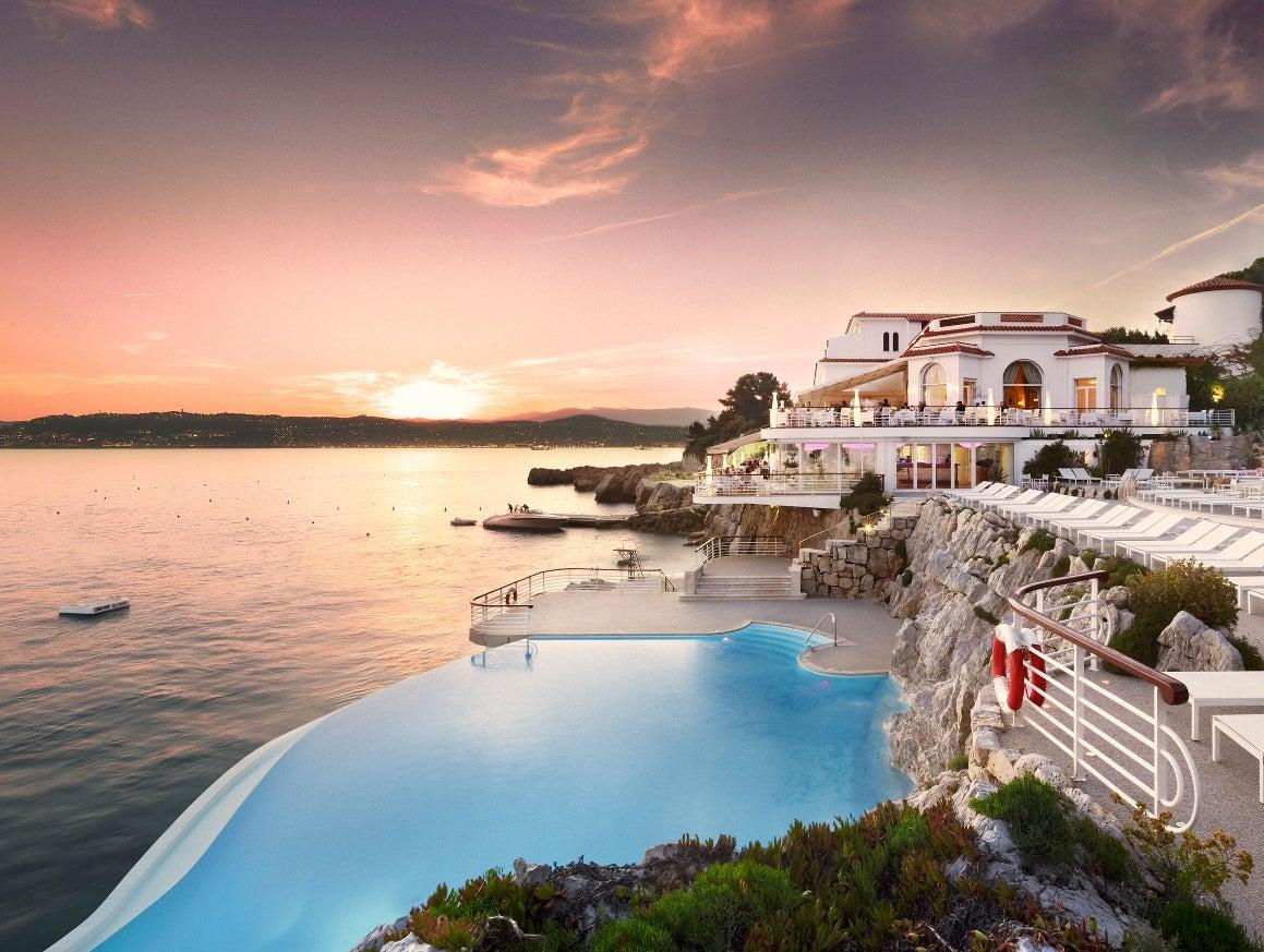 Piscinas Infinitas. Hotel du Cap Eden Roc. Cap d'Antibes (Francia)