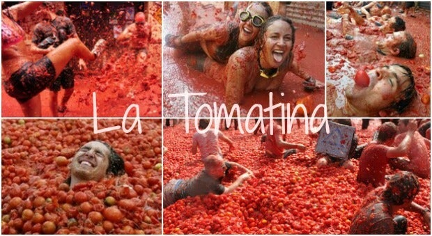 Tomatina collage