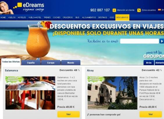 eDreams y Groupon