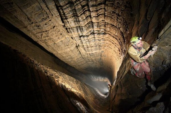 descenso a una cueva