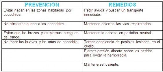 prevenciones y remedios cocodrilo