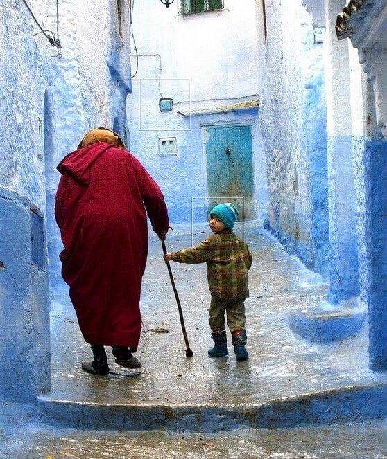 abuelo y niño