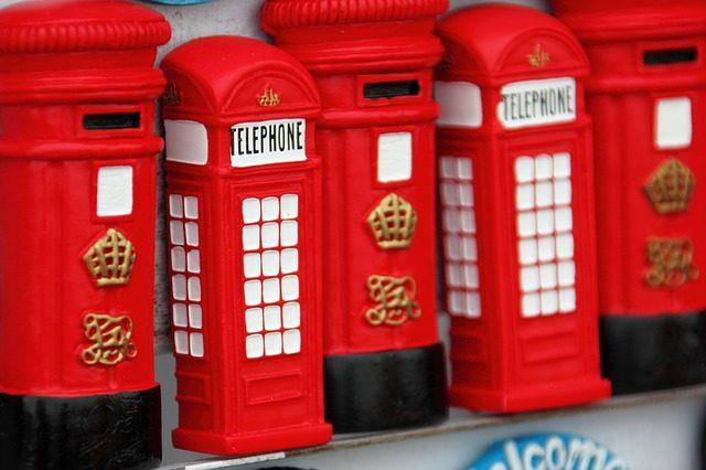imanes de cabinas rojas Londres