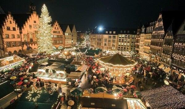 Mercado navideño en Estrasburgo