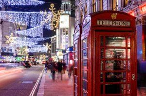 Calles de Londres en Navidad