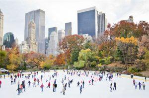 Pista de hielo en Nueva York por Navidad