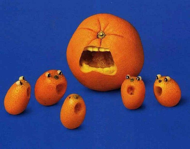 naranjas con cara