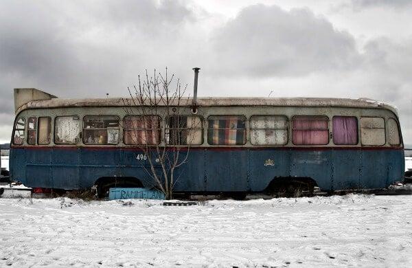 Autobus abandonado