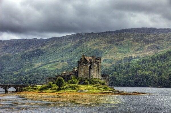 El castillo Eilean Donan en Ecosse