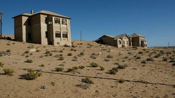 Kolmannskuppe, villa fantasma en el desierto de Namibia