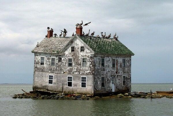 La última casa en la Isla de Holland, Maryland, Estados Unidos
