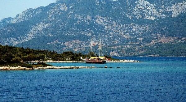 Bahía de Bodrum, en Turquía