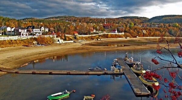 Bahía de Tadoussac, Quebec, Canadá