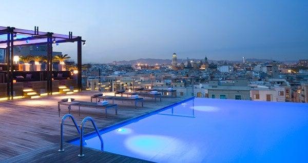 Piscinas Infinitas.Gran Hotel Central, Barcelona
