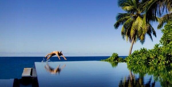 Piscinas Infinitas. Hotel Banyan Tree Seychelles, Seychelles