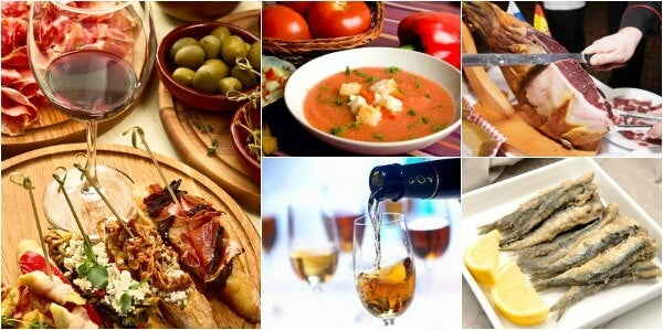 collage gastronomia andalucia