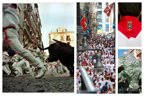san fermines pamplona collage
