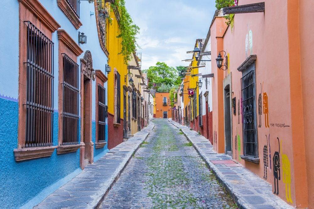 San Miguel de Allende, México, calles de colores
