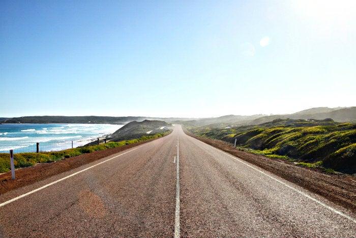 vistas de una carretera de australia