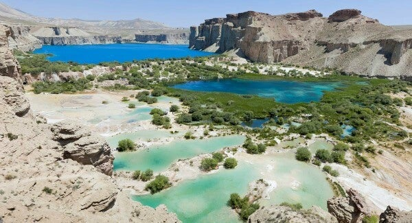 Las 20 piscinas naturales más originales del mundo. Band e-Amir (Afganistán)