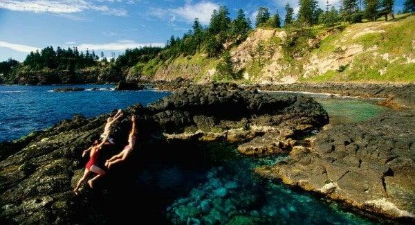 Las 20 piscinas naturales más originales del mundo. Piscina Crystal, Norfolk Island, Australia