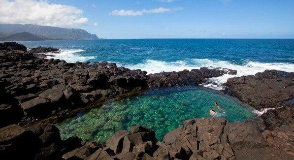 Las 20 piscinas naturales más originales del mundo. Queen's Bath (Hanalei, Kauai)