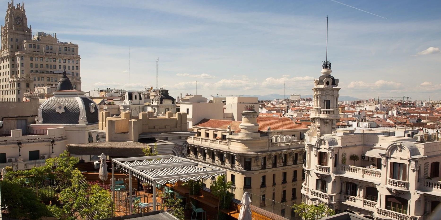 Terraza Air Lounge en Hotel de Las Letras - Madrid