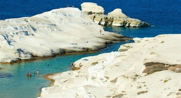playa de Sarakiniko, Grecia