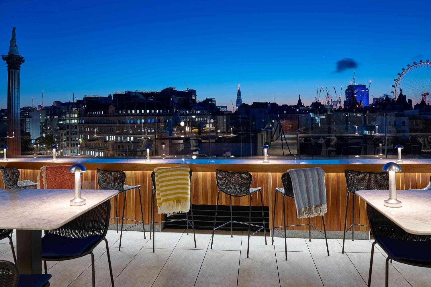 Terraza The Trafalgar St. James en Londres