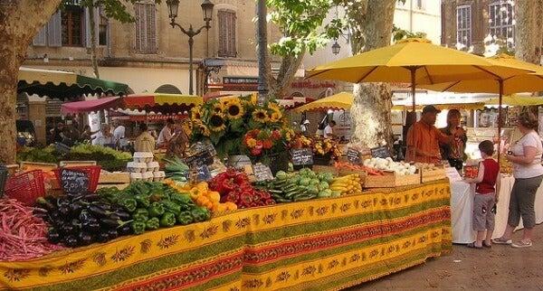 mercado Aix, Provenza