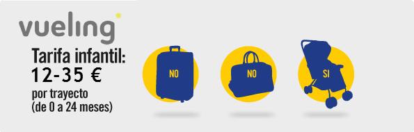 equipaje bebes vueling
