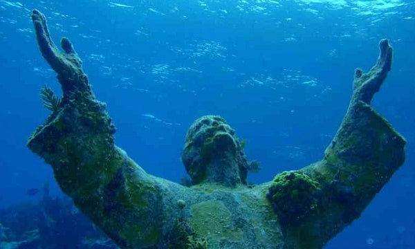 Christ of the Abyss, San Fruttuoso, Liguria, Italy